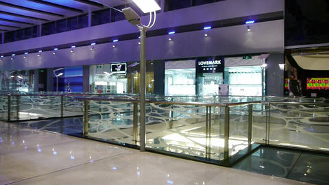 Luxury shopping malls scene,modern city environment Stock Video Footage