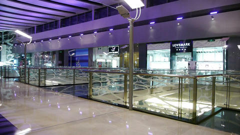Luxury shopping malls scene,modern city environment Stock Video Footage