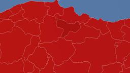 Amasya - Turkey region extruded. Solids Animation