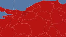 Duzce - Turkey region extruded. Solids Animation