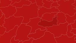 Elazig - Turkey region extruded. Solids Animation