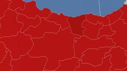 Giresun - Turkey region extruded. Solids Animation