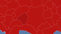 Isparta - Turkey region extruded. Solids Animation