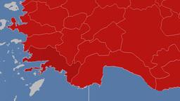 Mugla - Turkey region extruded. Solids Animation