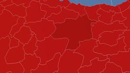 Sivas - Turkey region extruded. Solids Animation