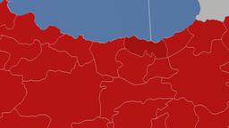 Trabzon - Turkey region extruded. Solids Animation