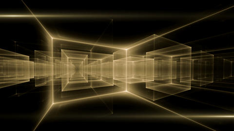 Golden Geometrical Horizon Stretching off to Infinity Animation
