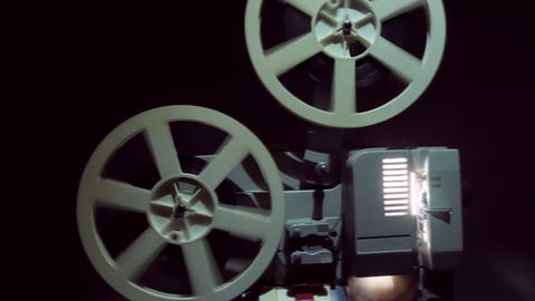 Old Projector Showing Film stock footage