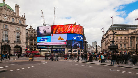 Piccadilly Circus, London Footage