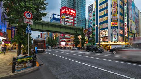 Akihabara in Time Lapse, Tokyo, Japan Footage