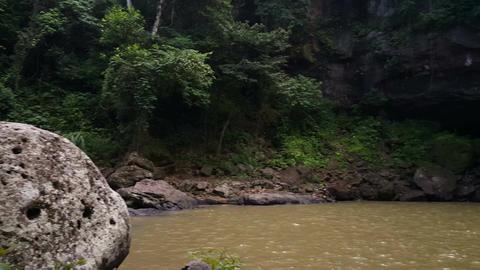 Cascada Blanca waterfall near Santa Emilia Footage