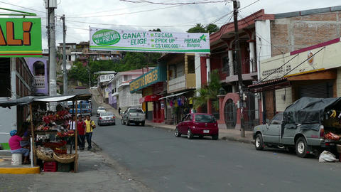 Streetlife in Matagalpa Footage