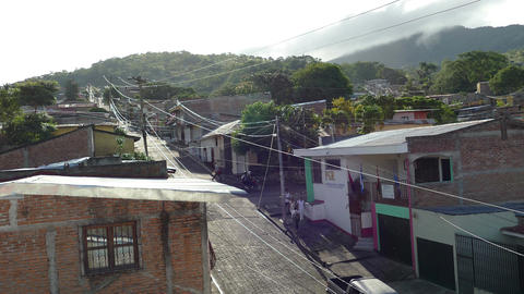Early morning in the streets of Matagalpa Footage