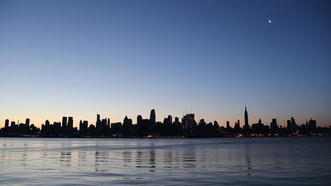 New York At Sunrise stock footage