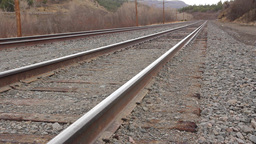 Train Track Low Angle stock footage