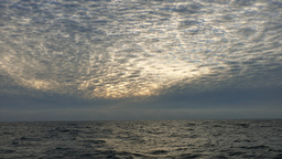 Sunsetting On The Pacific Ocean From A Fishing Boat stock footage