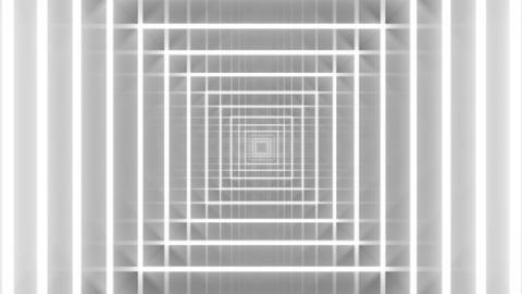 Glowing geometric tunnel Animation