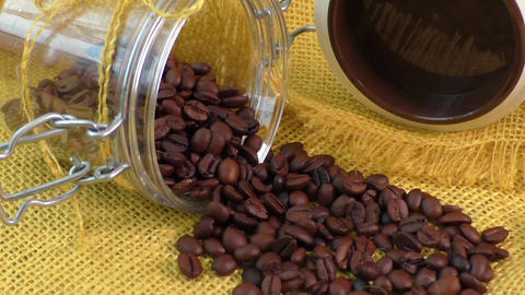 Fresh roasted arabica coffee beans Live Action