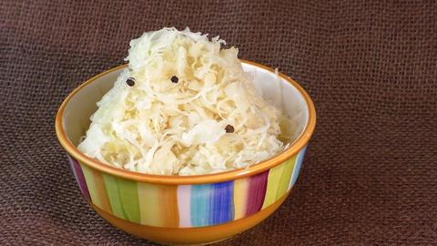 Homemade sauerkraut in a bowl Live Action