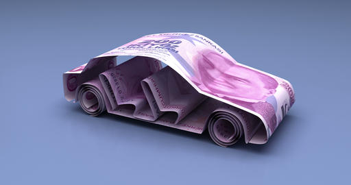 Car Finance with Turkish Lira Animation