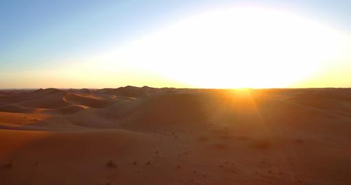 Aerial, Sahara Sunset, Erg Chegaga, Morocco Footage