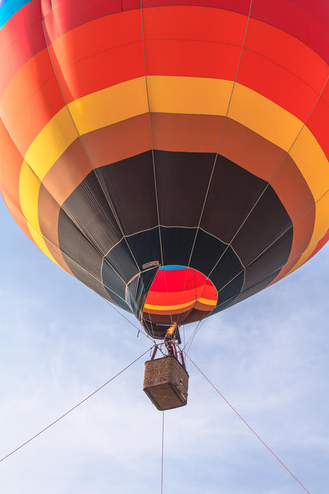You can fly away in the sky with hot air balloon Photo