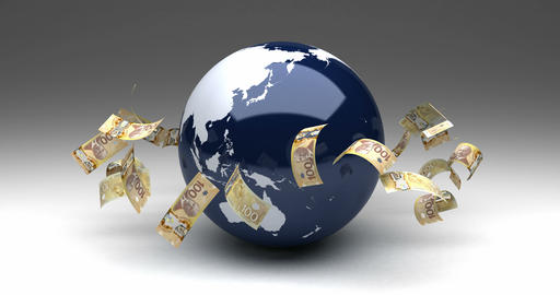 Global Business with Canadian Dollar Animation