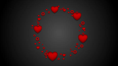 Red hearts St Valentines Day video clip Stock Video Footage