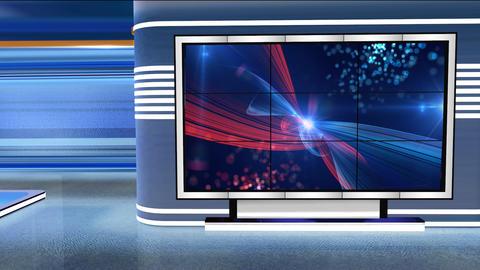 Virtual Studio Newsroom C2 Footage