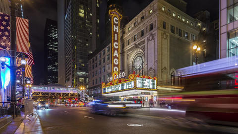 Chicago, USA - Timelapse - Music Hall Live Action
