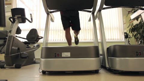 Running on the treadmill Footage