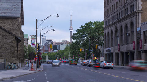 Toronto, Canada - Timelapse - Bloor and Avenue Road Live Action