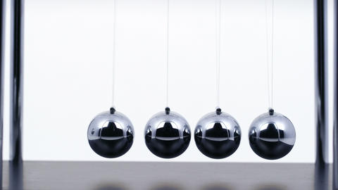 Newton's Cradle Close Up Footage