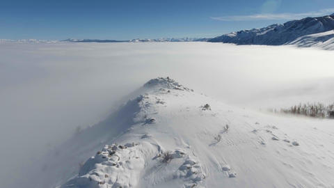 Flying above the fog Footage