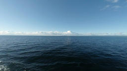 Ocean Horizon seen from a ferry crossing Footage