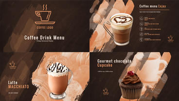 Coffee Drink Menu - Coffee Restaurant Display Bundle After Effects Project