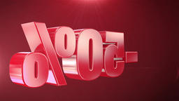 """ 50% Sale "" Animation Promotions In Red Text Seamlessly... Stock Video Footage"