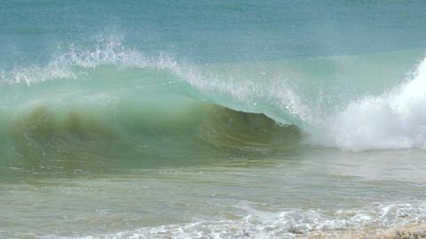 Beautiful splashing turquoise ocean waves Footage
