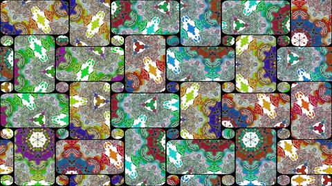 Mosaic kaleidoscopic vj seamless loop Animation