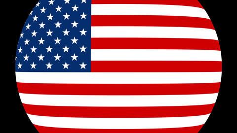United States Of America Alpha-4K MP4 Animation