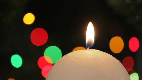 Burning Candle. Christmas decorations GIF