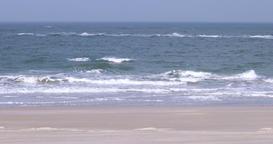 Beach on North Frisian island of Amrum in Germany Footage