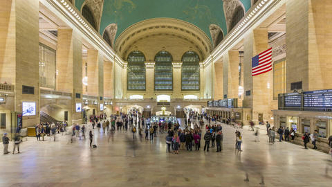 New York City , USA - Timelapse - Grand Central Terminal Footage