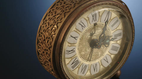 Close up shot of an antique watch Footage