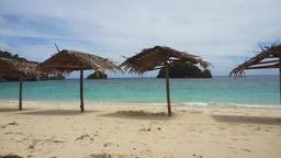 Beautiful beach on tropical island Footage
