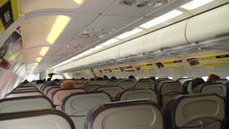 Interior of the passenger airplane Footage