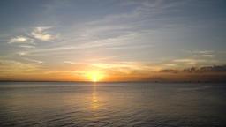 Beautiful sunset over sea Footage