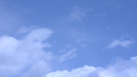 Clouds Flying High Blue Sky Footage