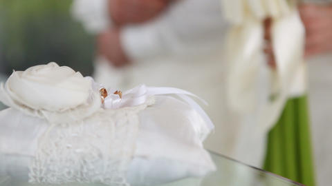 Wedding rings and ceremony Footage