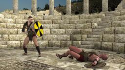 gladiatorial combat, animation ,svord pley Animation